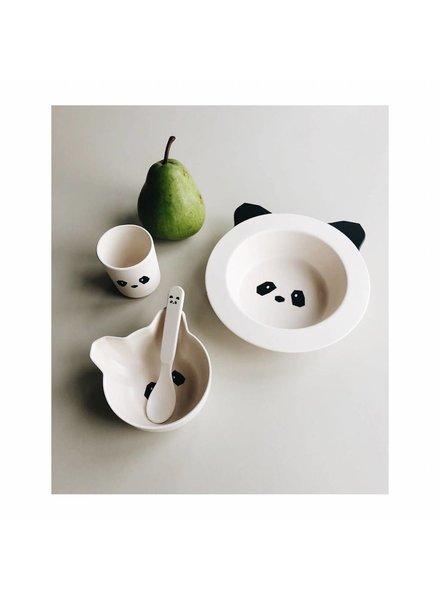 Liewood Barbara bamboo baby set - Panda creme de la creme
