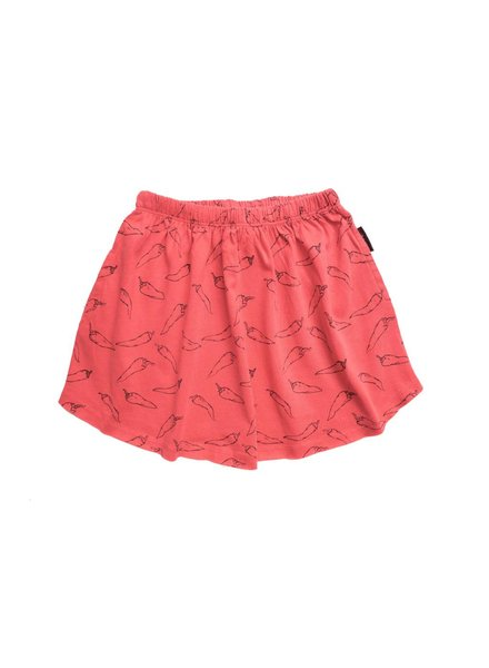 Sproet & Sprout Skirt 'Hot Pepper AOP'  red pepper