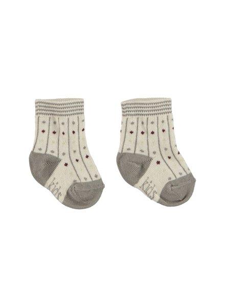 Kidscase Organic winter socks grey - Maat 74/80