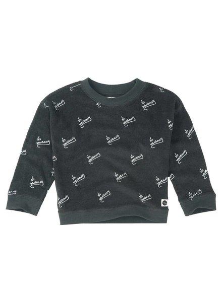 Sproet & Sprout Boxy sweater 'No Vacancy AOP'  asphalt