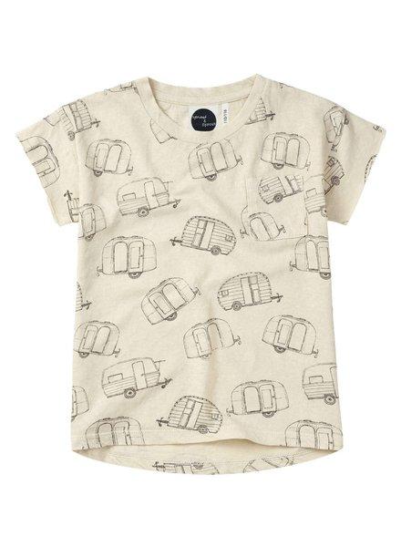 Sproet & Sprout T-shirt 'Caravan AOP'  shell