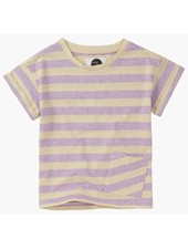 Sproet & Sprout T-shirt 'Stripe Violet' shell & dusty violet