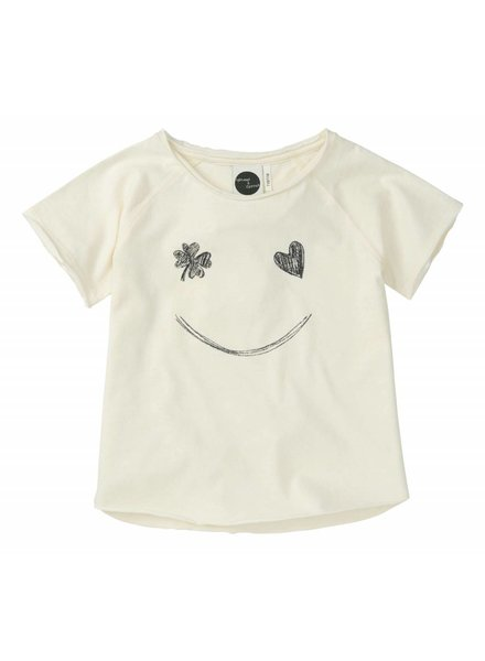 Sproet & Sprout Raglan T-shirt 'Smile'  summer white