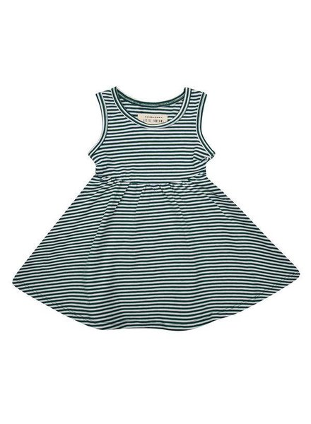 Little Indians Dress - Forest Stripe