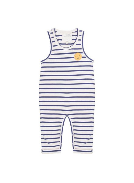 Little Indians Jumpsuit Happy Face - Summer Stripe