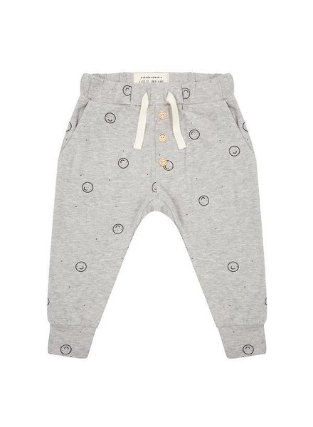 Little Indians Pants Happy Faces - Grey Melange