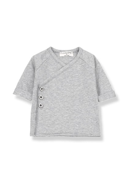1 + In the Family Gadea - newborn shirt - Grey melange