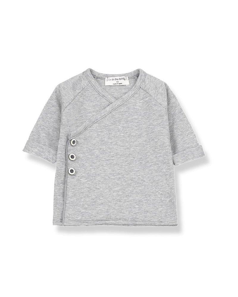 1 + In the Family Gadea - newborn shirt - Grey melange