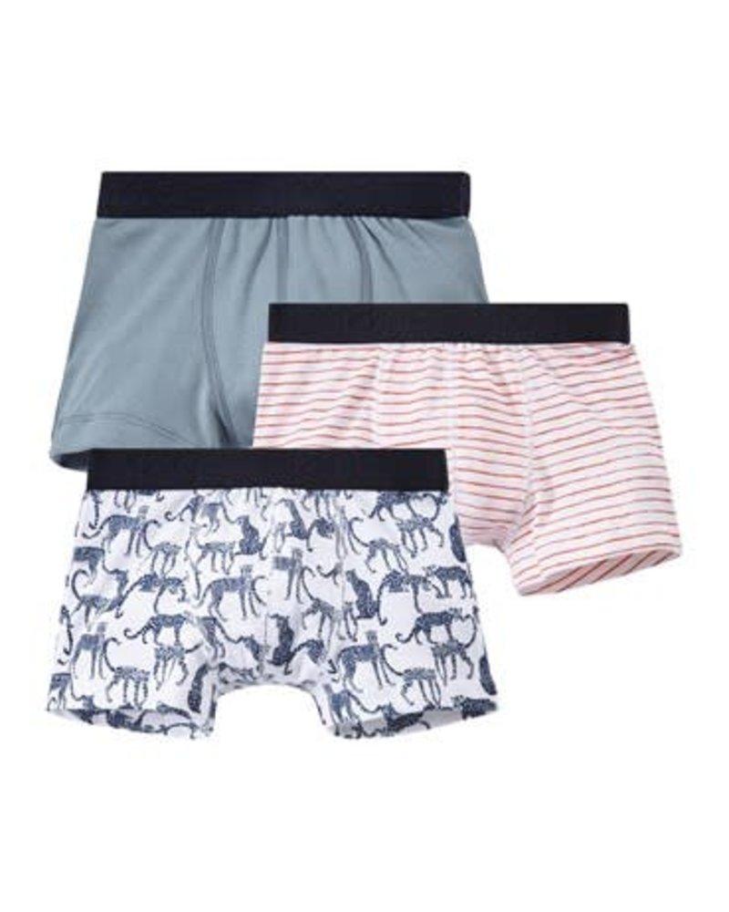 Petit Bateau Set van 3 boxershorts - luipaard - maat 2 jaar