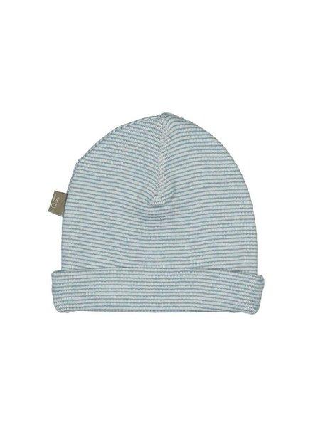 Kidscase Honey organic NB hat - light blue - Maat 3/6M & 6/12M