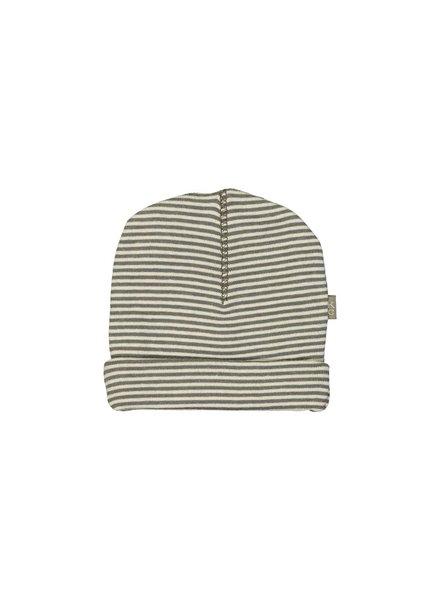 Kidscase Sky organic hat grey - Maat 0/3M & 3/6M