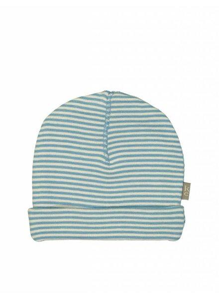 Kidscase Sky organic hat blue - Maat 0/3M, 3/6 & 6/12