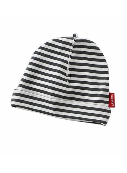 Tapete newborn hat / black stripes - Maat S