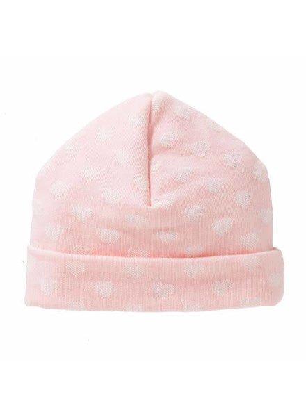 Cottonbaby Babymuts hartje roze - Maat S