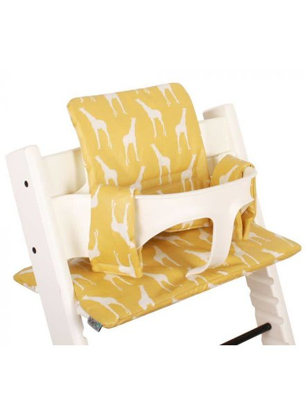 Ukje Kussen Tripp Trapp - Gele giraffen