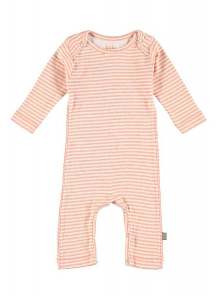 Kidscase Roman organic NB suit - soft orange