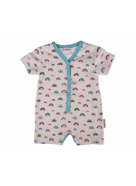 Baba Babywear V-neck summer suit - Rainbows