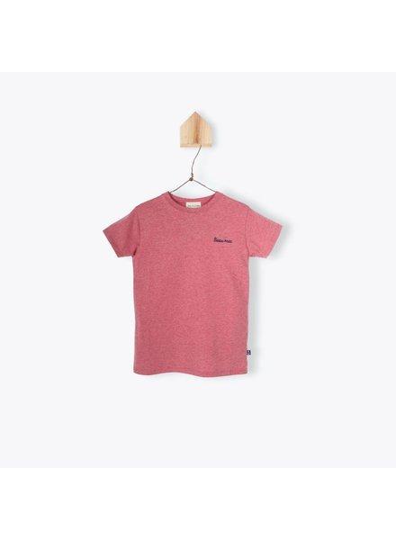 Arsene et les Pipelettes T-shirt rouge brodé Beau mec - Palmy