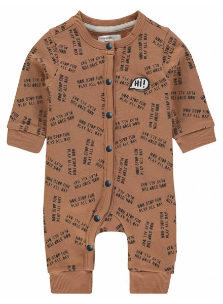 Noppies Playsuit ls Pontiac aop - Washed Wood