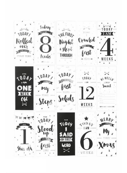 The Birds and the Bees Growing up tags - milestone baby cards