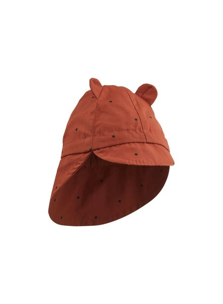 Liewood Gorm Sun Hat - Classic Dot Rusty - 0-6M