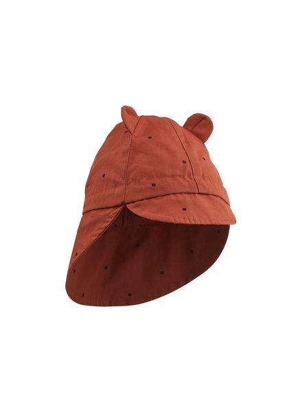 Liewood Gorm Sun Hat - Classic Dot Rusty - 1-2J