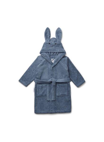 Liewood Lily Bathrobe - Rabbit Blue Wave - 5-6J