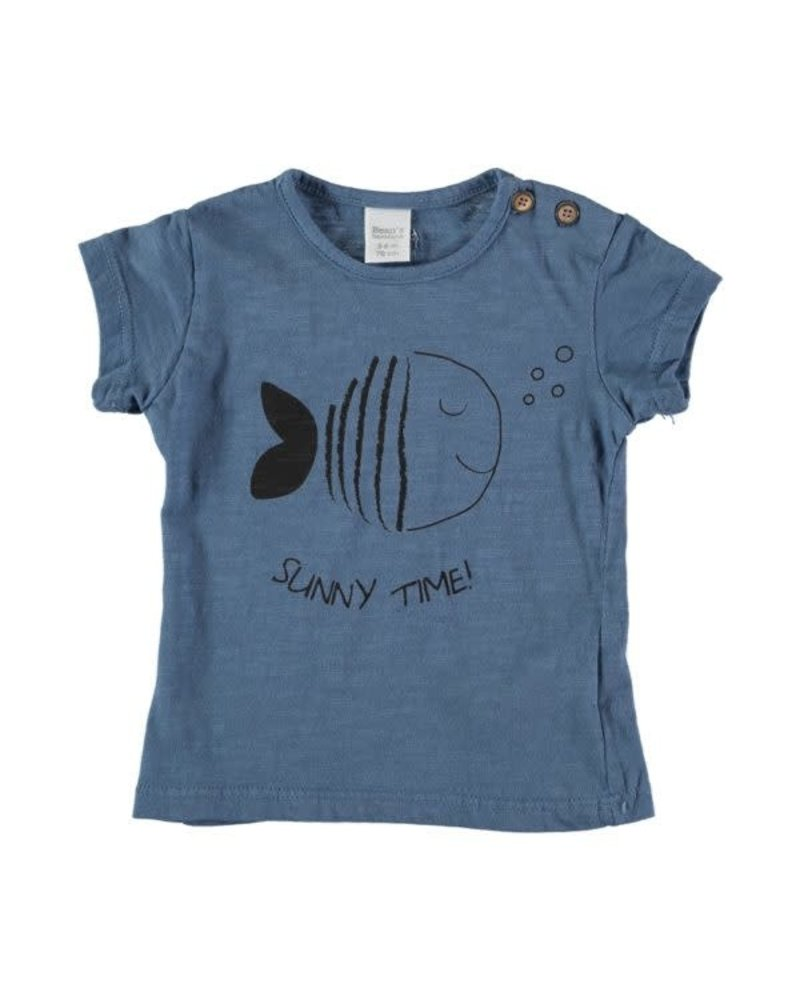 Beans Altea - Print T-shirt - Blue