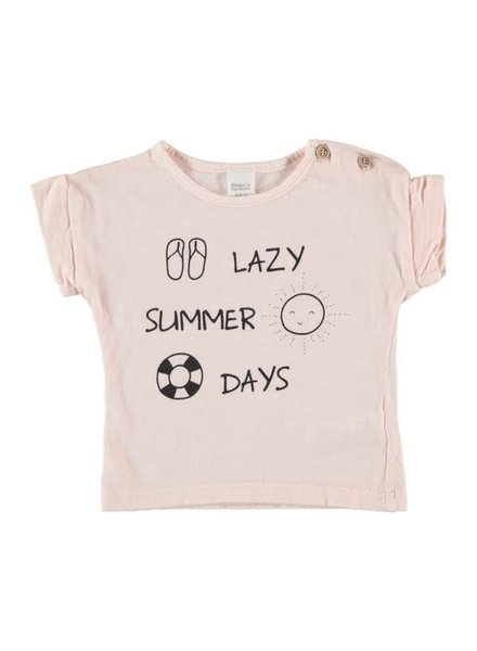 Beans Alicante - Lazy Summer Days T-shirt - Pink