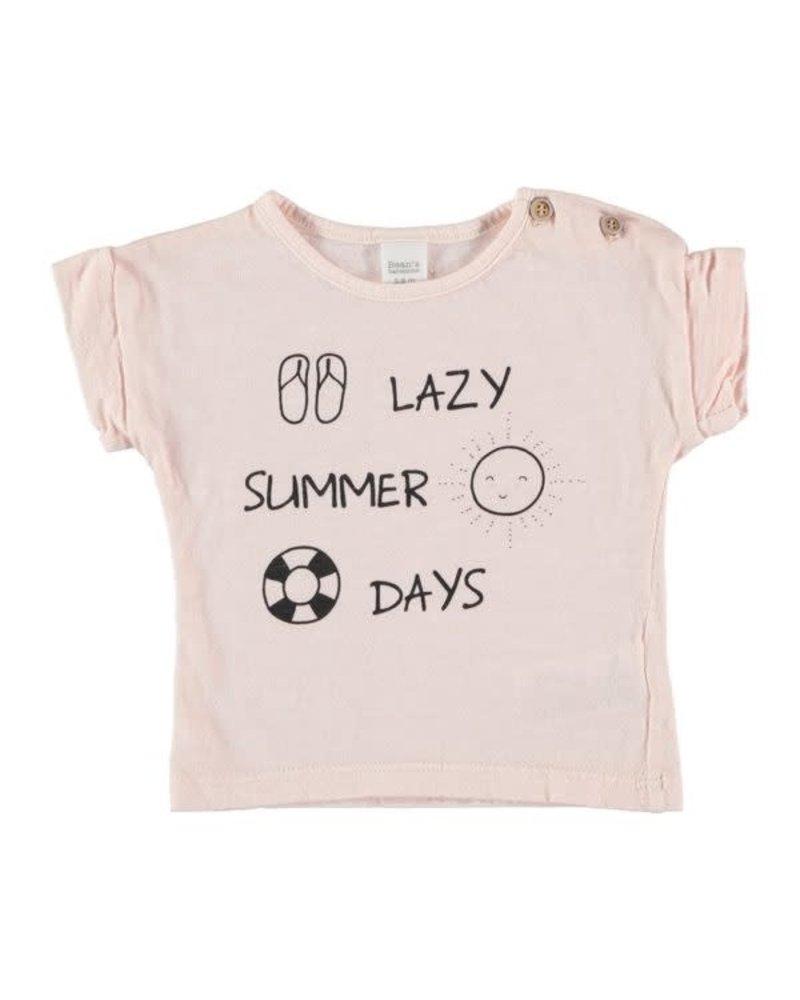 Beans Alicante - Lazy Summer Days T-shirt - Pink