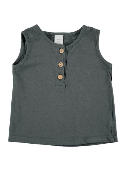 Beans Roses - Tank T-shirt - Anthracite