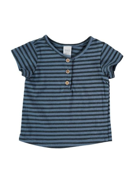 Beans Mahon - Striped T-shirt - Blue