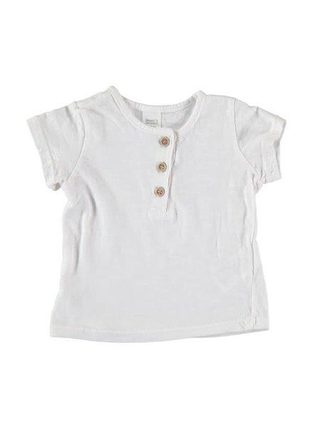 Beans Mahon - Slub Cotton T-shirt - White