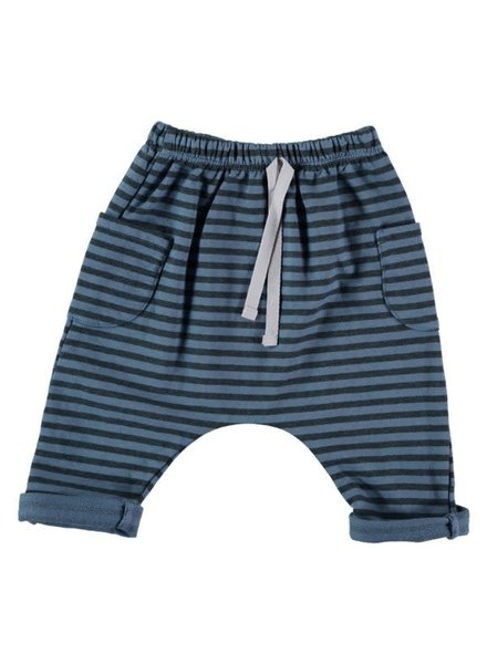 Beans El Pireo - Striped Pants With Pockets - Blue
