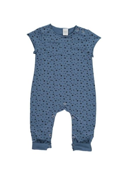 Beans Napoles - Printed Sweat Playsuit - Blue