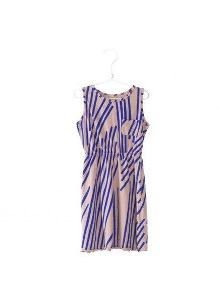 Lötiekids Dress Sleeveless Stripes - Old Pink
