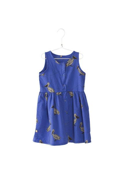 Lötiekids Twill Dress Pelicans - Deep Blue