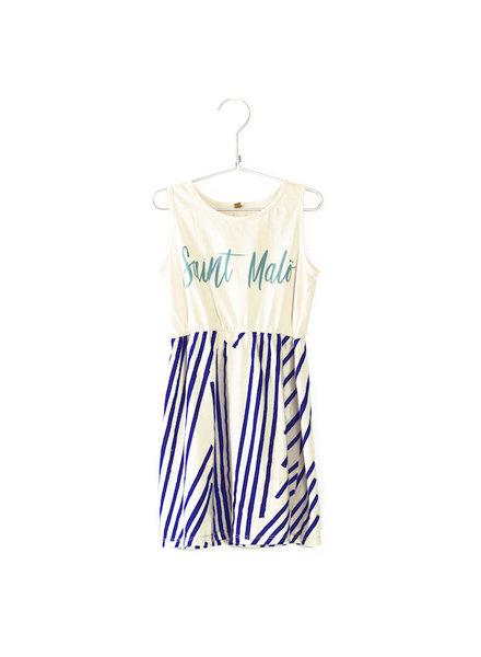 Lötiekids Sleeveless Dress Stripes Saint Malö - Off White