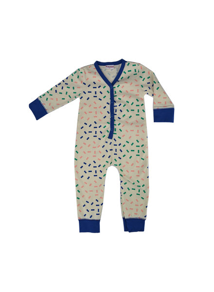 Baba Babywear Bodysuit - Rectangles