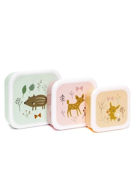 Petit Monkey Lunchbox set - Forest Friends