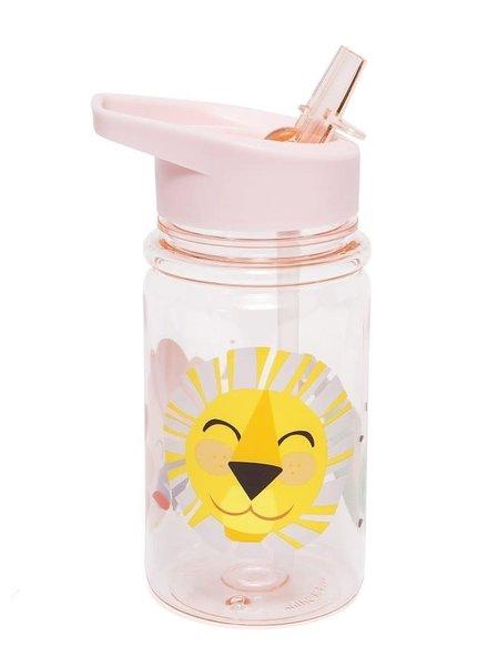 Petit Monkey Drinking Bottle - Shiny Lion Pink