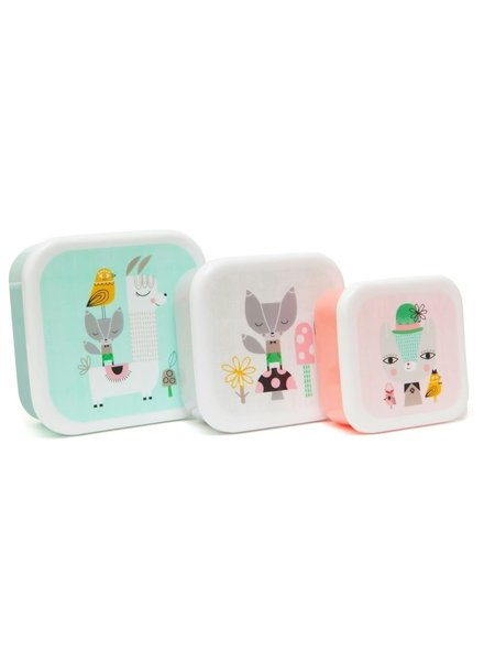 Petit Monkey Lunchbox Set - Lama & Friends