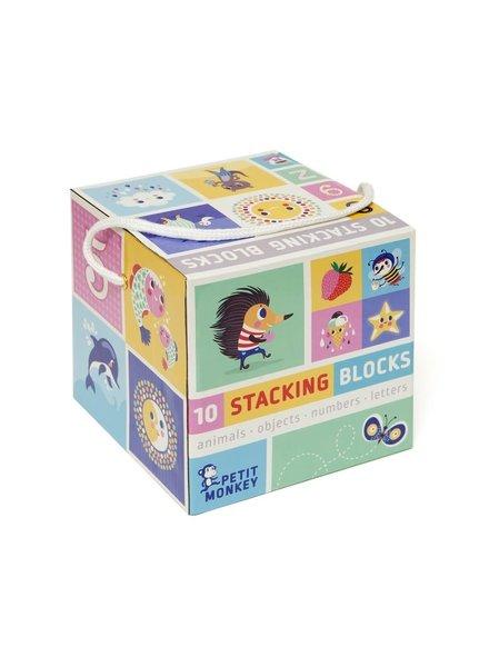 Petit Monkey 10 Stacking Blocks