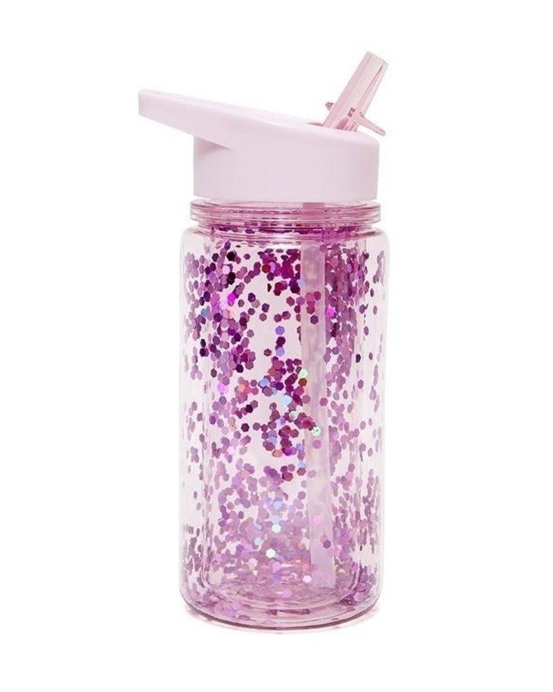 Petit Monkey Drinking Bottle - Glitter - Orchid