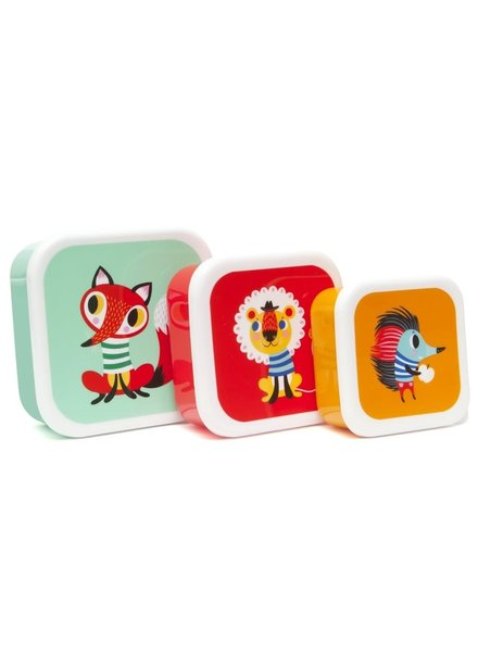 Petit Monkey Lunchbox Set - Animals