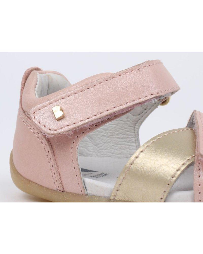 Bobux Step-up craft - Sail Sandal Blush + Misty Gold