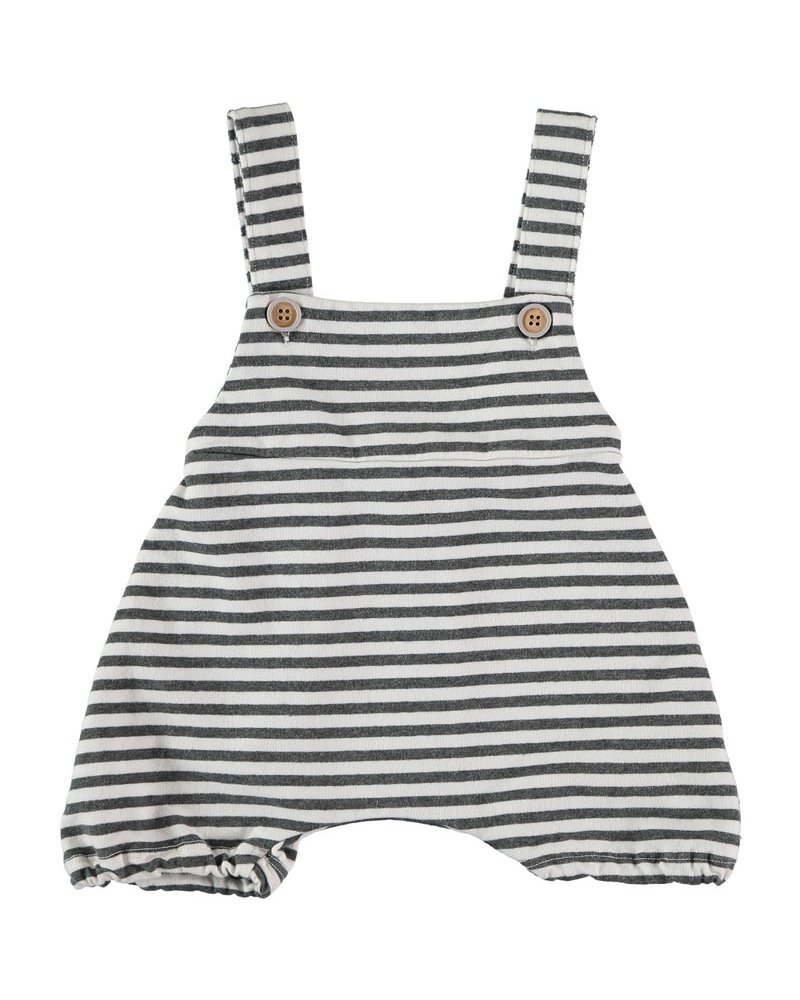 Beans Savona - Striped sweat romper - White