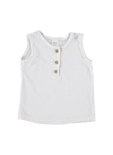 Beans Roses - Tank t-shirt - White