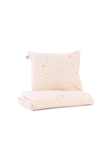 Nobodinoz Himalaya duvet gold stella/ dream pink - small