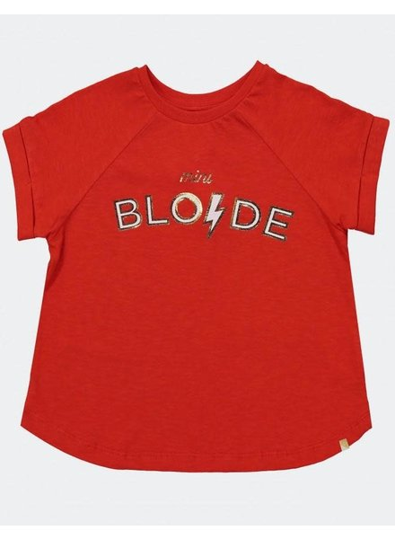 Blune PRINTED COTTON JERSEY T-SHIRT - STRAWBERRY
